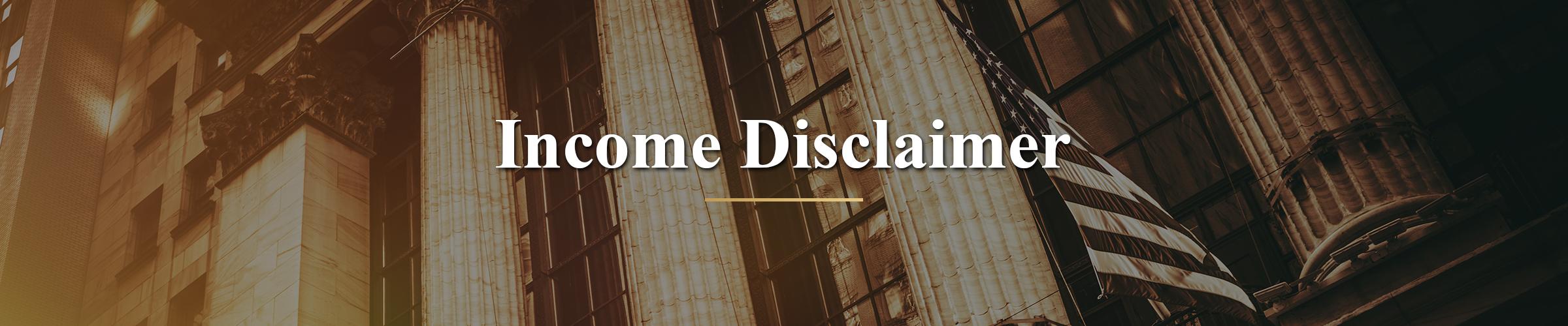 millionaireseries.com income disclaimer